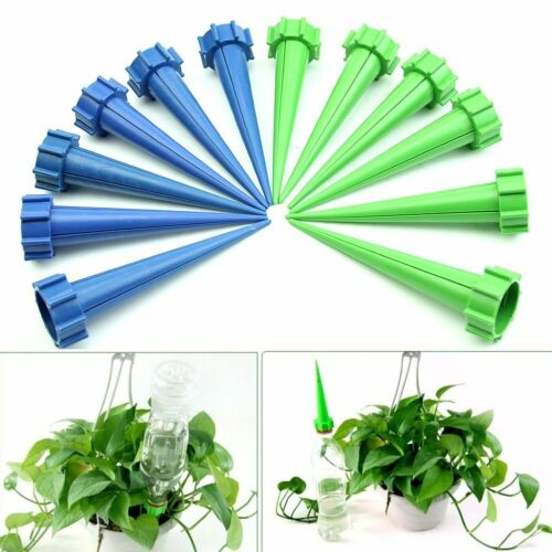 4//24pcs Automatic Watered Irrigation Spike Garden Plant Flower Drip Sprinkler UK