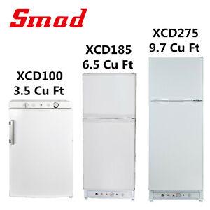 Smad-Propane-Gas-Refrigerator-Top-Freezer-Van-RV-Fridge-Camper-LPG-Cooler-AC-DC
