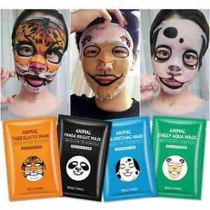 Details about Cute Brightening Makeup Tiger Animal Face Mask Beauty Skin  Care Moisturizing