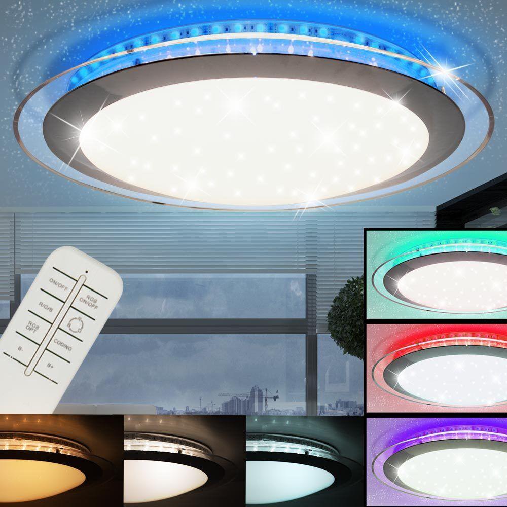Rgb LED Lámpara de Techo Luminaria De Sala De Sueño Estrellas De Control Remoto De Proyector De Efecto
