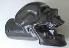"""Black Powder Coated Skull Exhaust Tip - Original - 3"""" Exhausts"""