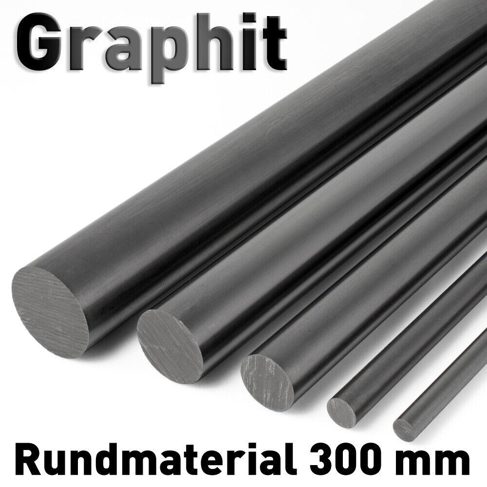 Graphit Rundmaterial ø 75 mm x 50 mm lang Graphitstab Graphitelektrode Elektrode