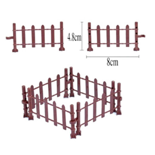 10pcs Farm Animals Fence Toys Military Fence Simulation Model Toy for ChildrenXD