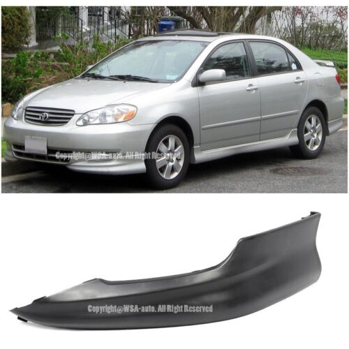 For Toyota Corolla 03-04 S Style Left Front Driver Lower Body Kit Lip Spoiler