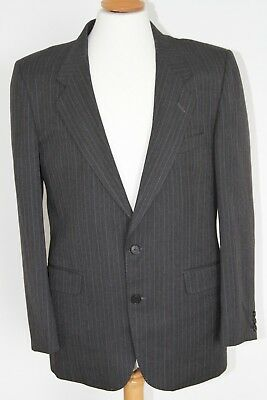 Mr Size 40r Harry Tailors Just Men's Quality Dark Grey Striped Tailored Suit