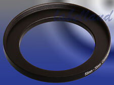 55mm-72mm Filter Adaptor Ring Converts 55mm lens thread to 72mm 55-72 Step-Up