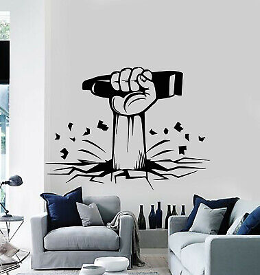 Vinyl Wall Decal Barber Shop Razor Men S Hand Haircut Shaves Stickers G1121 Ebay