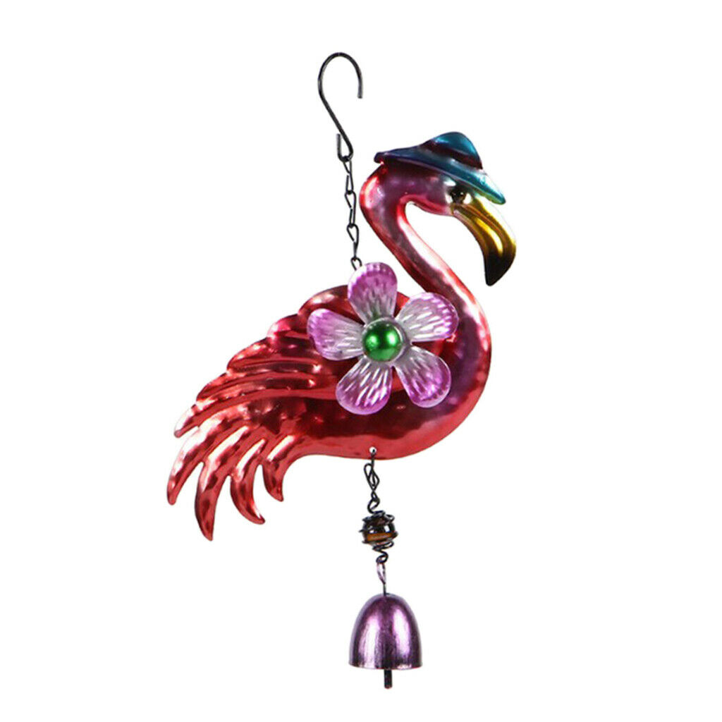 Metal Flamingo Wind Chime Outdoor Music Wind Chimes for Garden, Patio, Home or