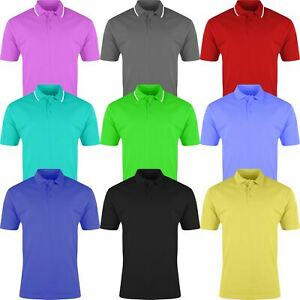 Details about Mens Polo Shirt Plain Shirts Pique Tee New Golf Work Casual Cotton Blend S-4XL