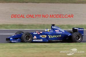 decal tobacco Prost AP03 Alesi Heidfeld 1/18 F1 minichamps
