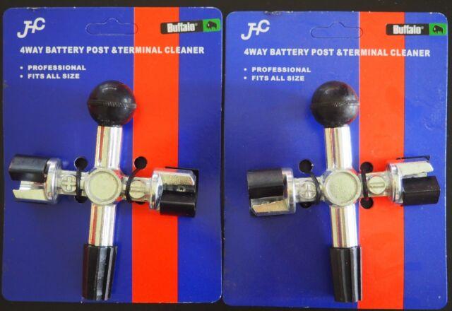 Laser Part No 5391 nouveau 4 Way Battery Post /& Terminal Cleaner