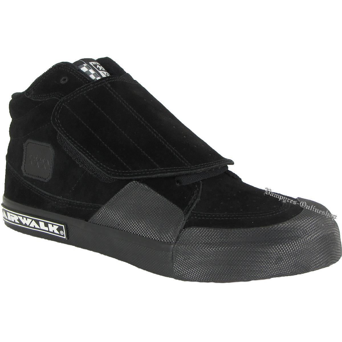 Airwalk VIC 8-Loch Schwarz Sneaker Black Turnschuhe Noir Skateschuhe Nero Klett
