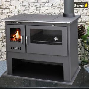 image is loading cooker range wood burning multi fuel stove milan - Wood Burning Kitchen Stove