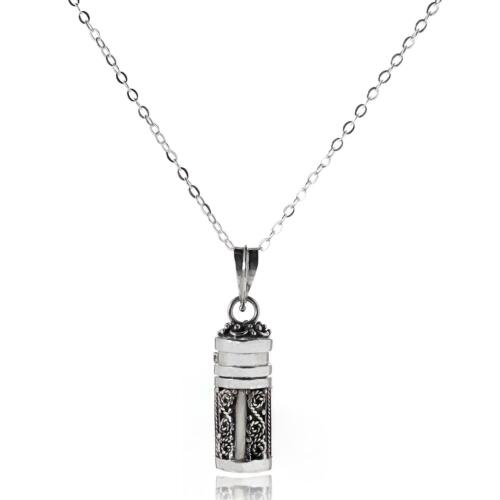 Necklaces 925 Sterling Silver Ornate Silver Opening Prayer Box Pendant Chain