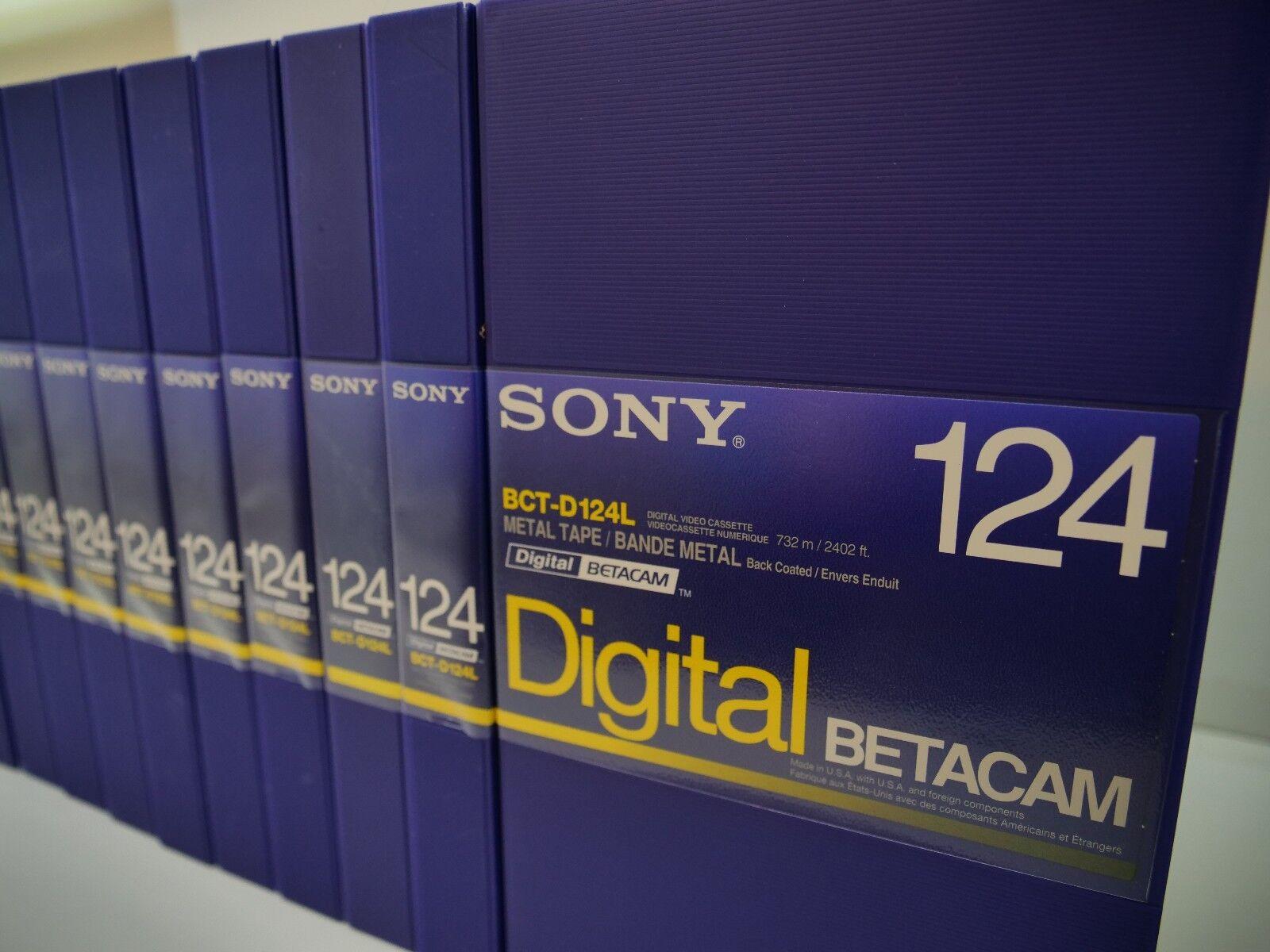 Lote de 10 Sony BCT-D94L Digital BetaCam