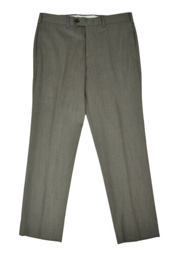 Brooks Brothers Mens Mushroom Gray Regent Fit Flat Front Pants Sz 35W 32L 5478-7
