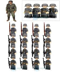 16PCS World War II Building Block German Composite Schutzstaffel Mini Figure Toy