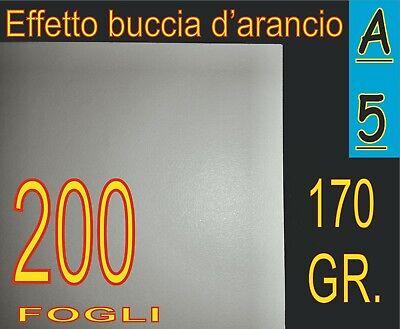 Competente 200 Fogli A5 Carta 170 Gr Effetto Buccia D'arancio Bianca Stampante Laser Foto