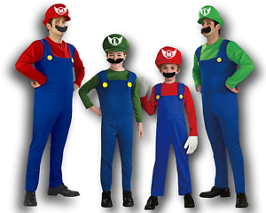 Mario And Luigi Costumes Kid Men Super Mario Bros Brothers