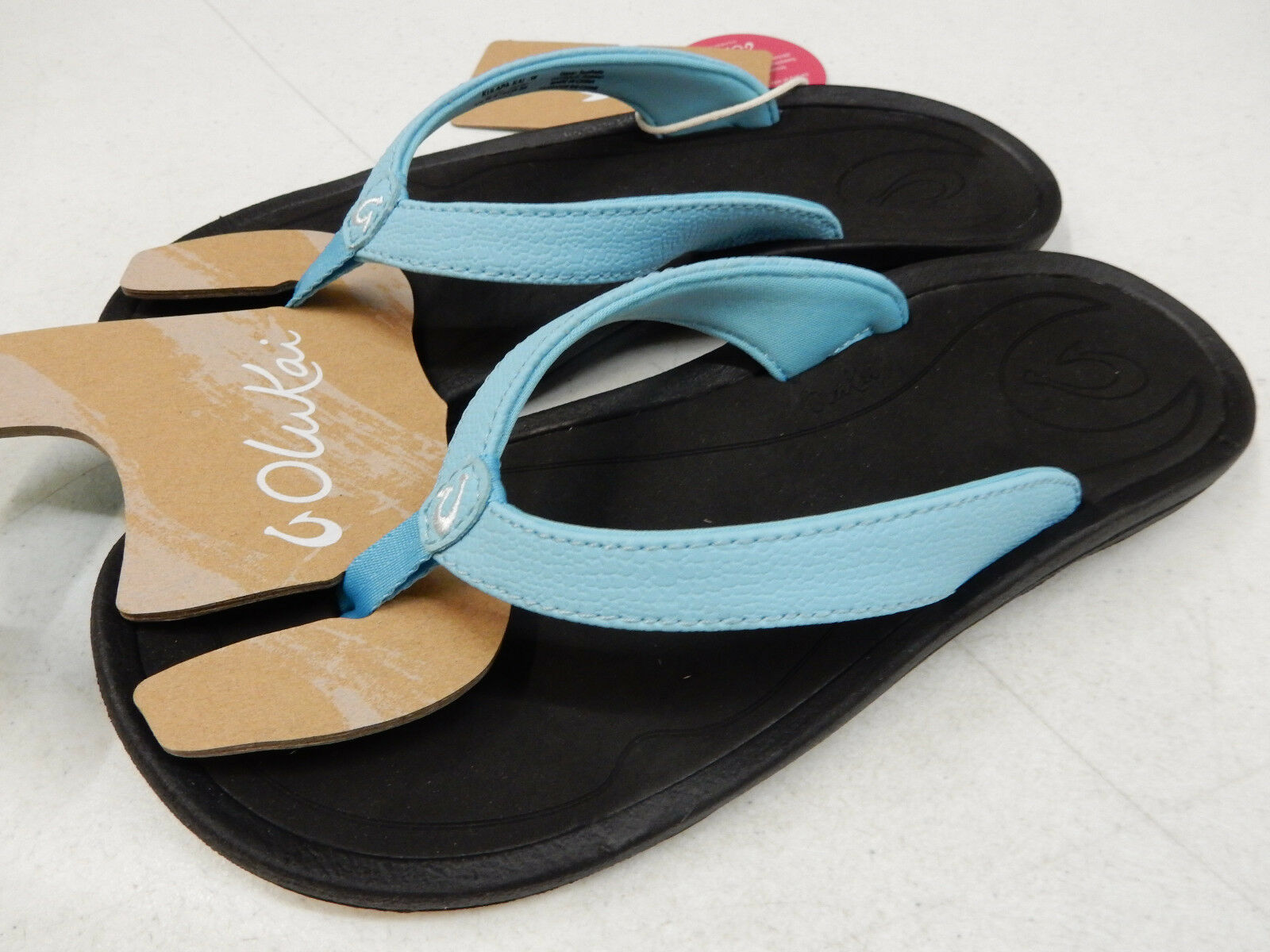 OLUKAI Damenschuhe SANDALS KULAPA KAI COTTON CANDY BLACK SIZE 7