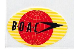 Ce63 Boac Vol étiquette-afficher Le Titre D'origine Brillant En Couleur