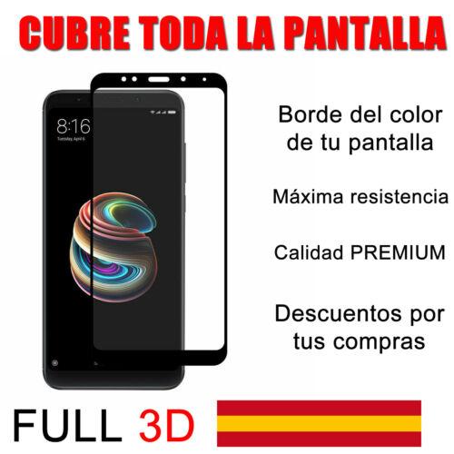 CUBRE TODO Cristal templado FULL 3D protector pantalla  XIAOMI REDMI 5 PLUS