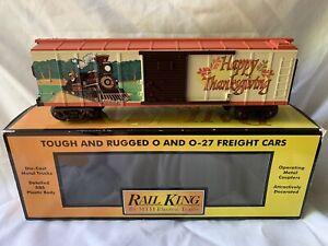 MTH-RAILKING-HAPPY-THANKSGIVING-TURKEY-EXPRESS-BOXCAR-LN-BOX-FOR-LIONEL-TRAIN