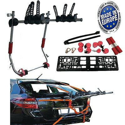 Car Boot 3 BIKE CYCLE CARRIER RACK To Fit Renault Twingo Clio Zoe Captur Megane
