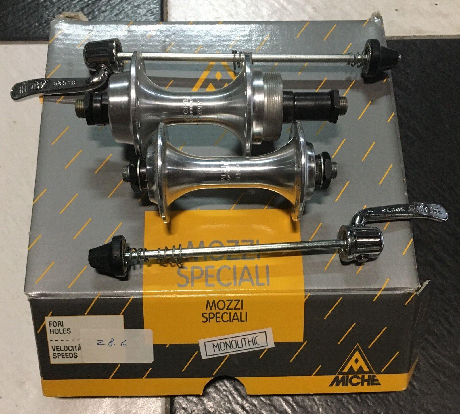 Mozzi bici ant-post filettato Miche Monolitich 28h front rear threaded hub bike