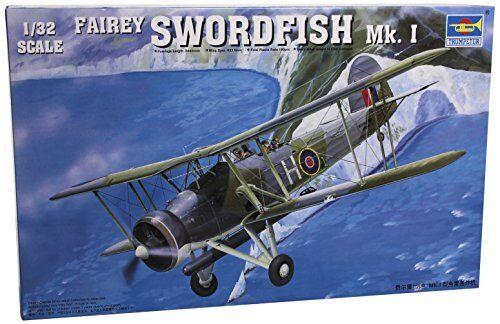 Fairey Swordfish Mk.I Aircraft 1 32 Plastic Model Kit TRUMPETER