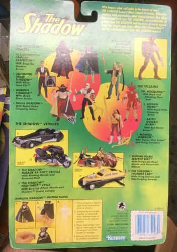 The Shadow Electronic Ambush Shadow w//quick draw action Figure Kenner