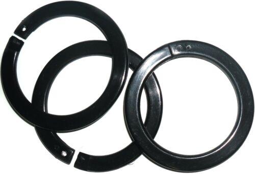 Art N-55 Kreis O Beutel//Crafts 41MM Rund Flach Snap Verschluss Plastik Ringe