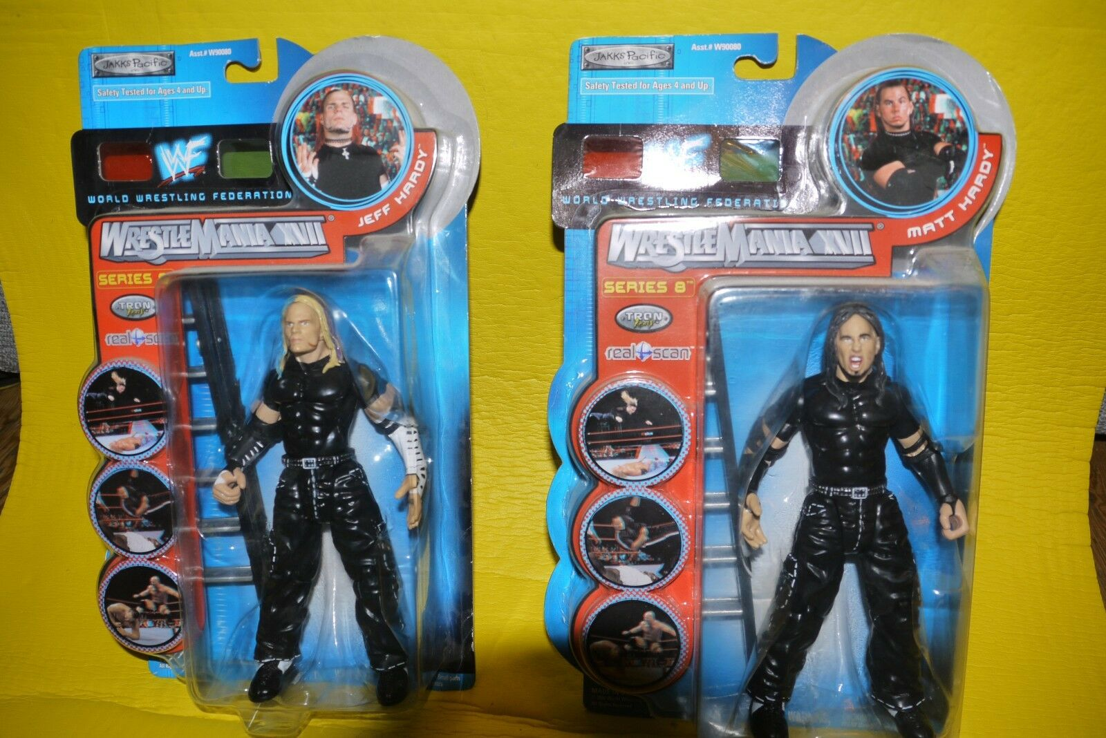 WWF Jeff Hardy Matt Hardy Series 8 Wrestling action figure Tron boxed (rare) WWE