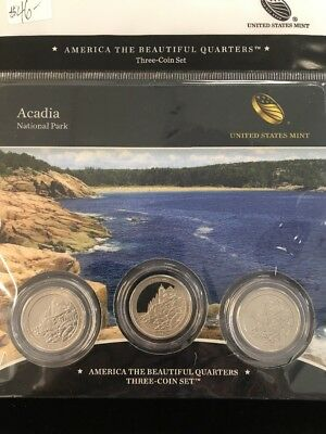 2012 D Acadia Maine America the Beautiful BU Quarter from US Mint Roll