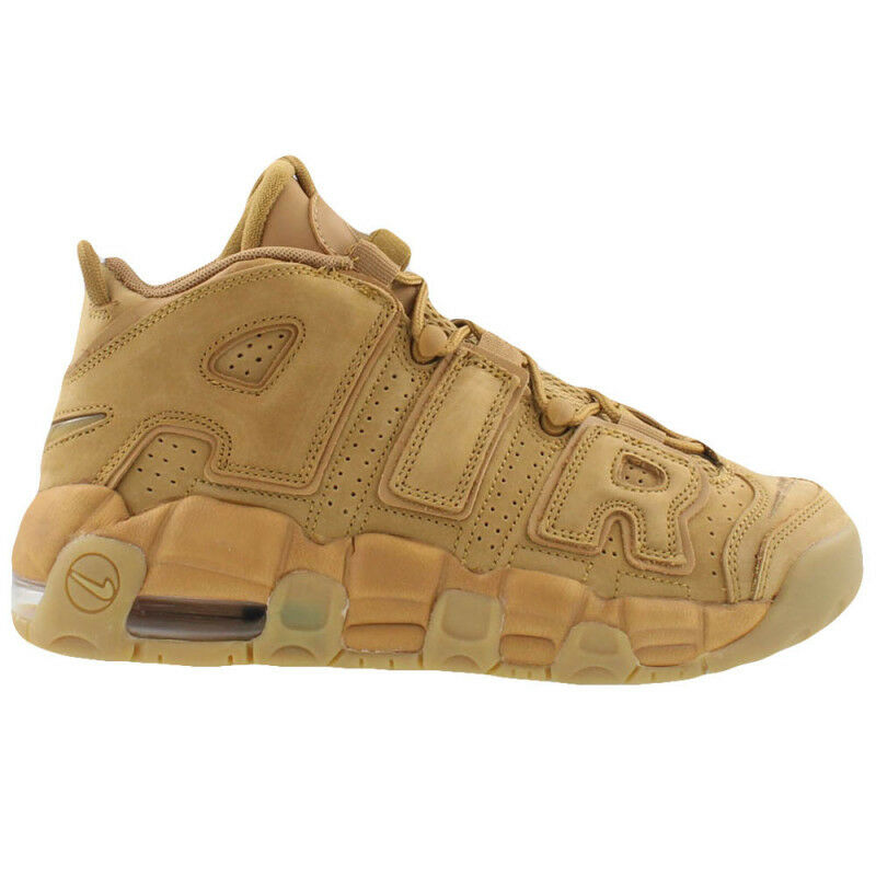 NIKE AIR MORE UPTEMPO Flax Wheat Light Brown Gum 922845 200 GS Pippen Kids