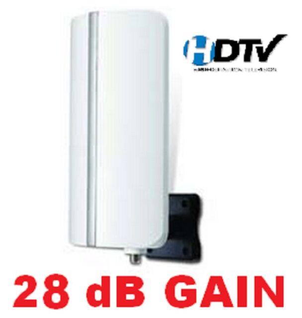 DIGITAL HDTV UHF VHF DTV INDOOR/OUTDOOR ANTENNA + COAX CALBE HD TV + AMP RV BOAT