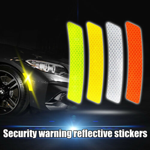 2Pcs Car Bumper Reflective Warning Strip Decal Stickers Auto Accessory 14*2.3cm
