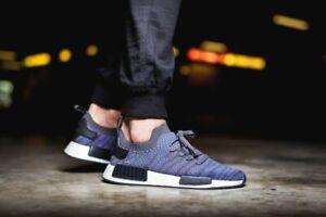 Adidas-Originals-Boost-Unisex-Running-Gym-Trainers-NMD-R1-STLT-Primeknit-UK-6-5