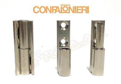 CERNIERA CONFALONIERI PZ.2 1152 C//SCATTO CR.LUCIDO VETRI MM.22 COLLO 0 C//BASETTA