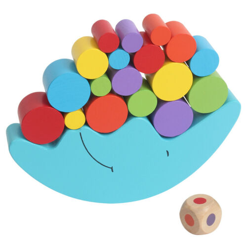 Montessori game baby educational wooden toy intelligence moon balance building