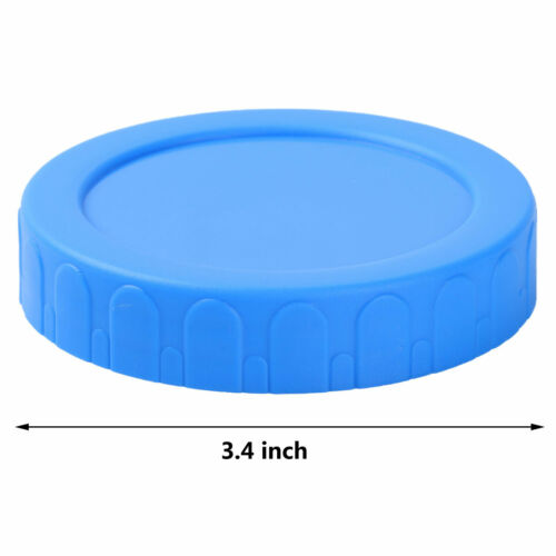 4Pcs Plastic 70//86mm Caps Lids with Silicone Seal Rings for Mason Jars Bottle