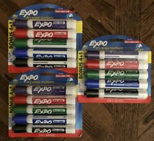 Lot Of 3 Expo Dry Erase Markers 5 Pack Different Colors New Sealed