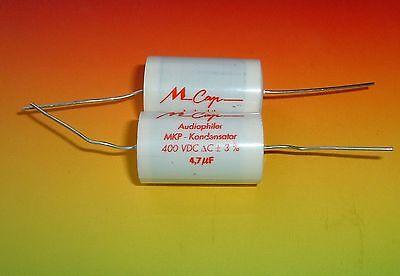2 x MUNDORF MCAP 4,7µf 400VDC capacitor MKP