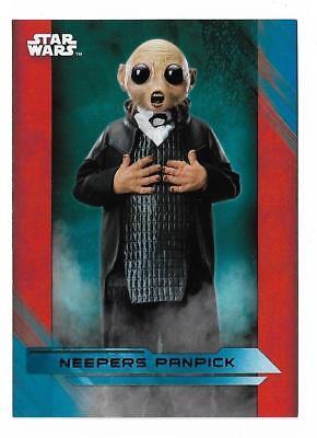 Star Wars Last Jedi Green Parallel Base Card #35 Neepers Panpick