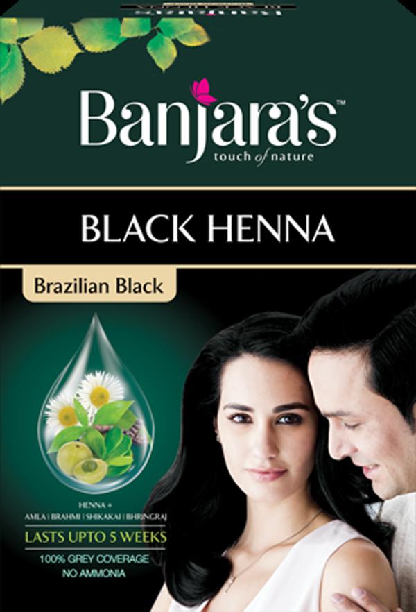 68fd7b0fc5b61 2x Banjara's Black Henna Brazilian Black 54 GM Rich Black Hair ...