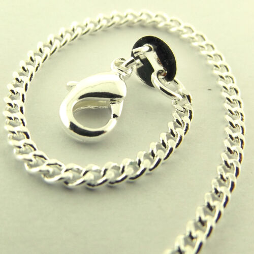 NECKLACE PENDANT CHAIN GENUINE REAL 925 STERLING SILVER S//F SOLID FINE CURB LINK