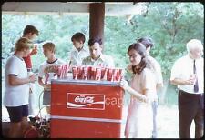 Coke COCA-COLA Cooler & Cups Party Teen Boys & Girl Vtg 1960s Slide Photo