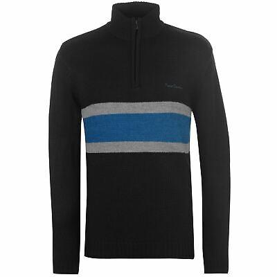 Pierre Cardin A Righe Da Uomo Quarter Zip Maglione Sweater Pullover Manica Lunga-mostra Il Titolo Originale Con Metodi Tradizionali