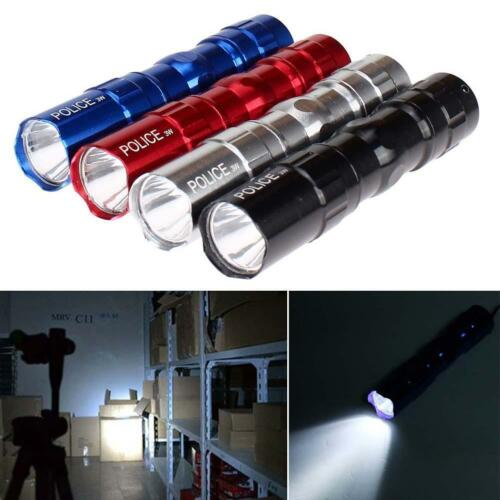 1pc-5pcs 3W Super FTight Police LED Flashlight Torch Light Lamp AA With Strap FT