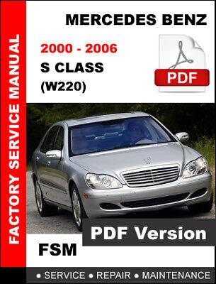 2004 mercedes s500 manual